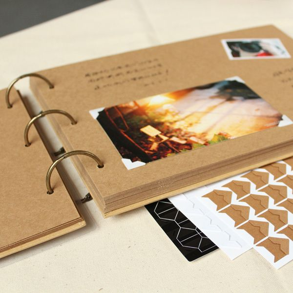 A4 56 P Kraft bricolage à la main bébé Album Couple créatif Polaroid photographie collage famille Album cadre Albums Photo pour nouveau-né