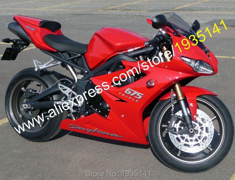 Hot Sales,For Triumph Daytona 675 2009-2012 Accessories Daytona675 09 10 11 12 Full Red Sportbike Fairings (Injection molding)