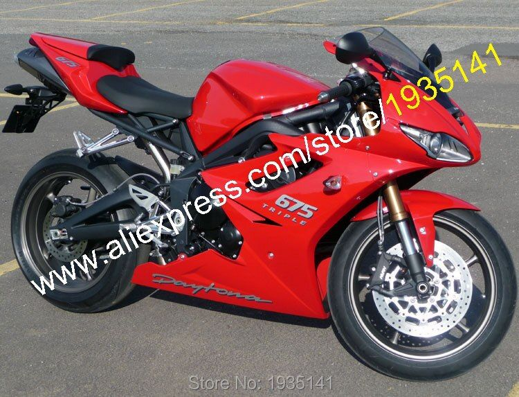 Hot Sales,For Triumph Daytona 675 2009-2012 Accessories Daytona675 09 10 11 12 Full Red Sportbike Fairings (Injection molding)