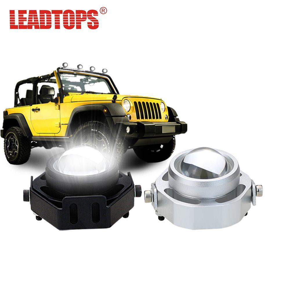 <font><b>LEADTOPS</b></font> LED DRL Car Fog Lights Waterproof 1000LM DRL Eagle Eye Daytime Running Light Reverse Backup Parking Foglight 10W CCC AE