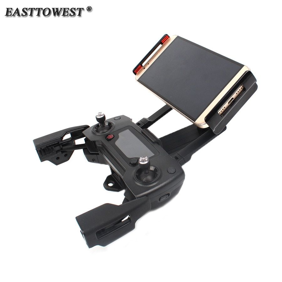 Easttowest 360 Rotating Smartphone Tablet Bracket Support Holder for DJI Spack Mavic Pro Remote Controller