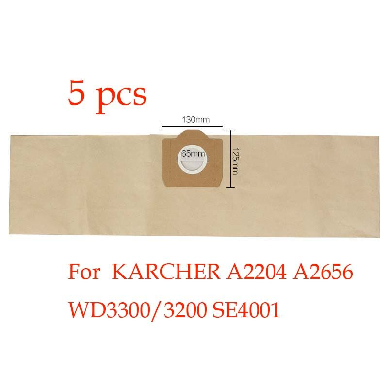 5pcs Replacement  KARCHER vacuum cleaner  A2204 A2656 WD3300/3200 SE4001 dust bag  vacuum cleaner bag paper bag