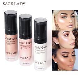 SACE señora Face Cream Highlighter líquido iluminador maquillaje Shimmer Glow Kit maquillaje Facial iluminar brillo cosméticos marca