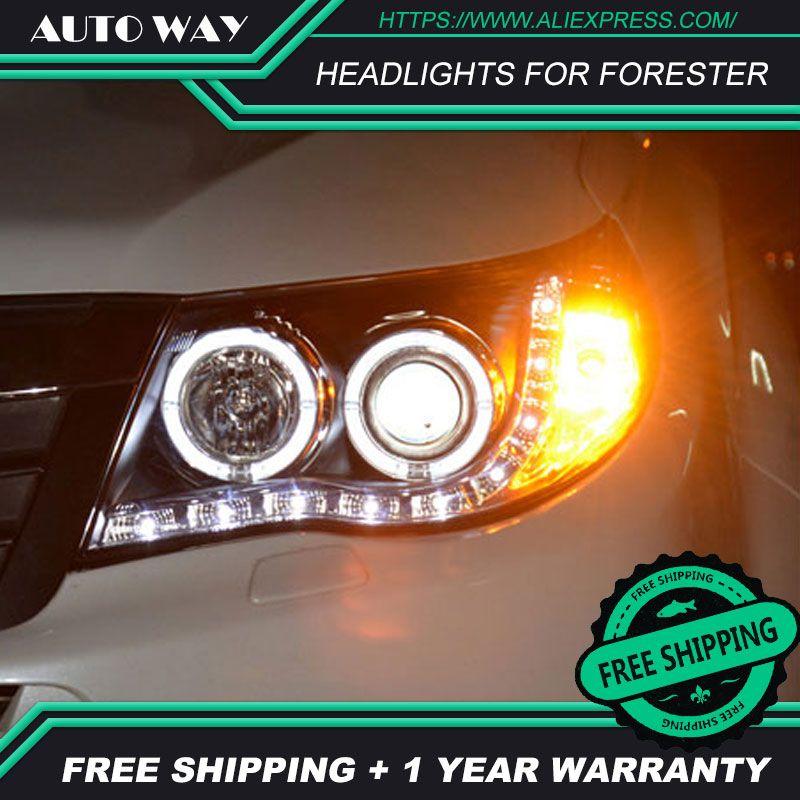 Freies verschiffen! Auto styling LED HID Rio LED scheinwerfer Kopf Lampe fall für Forester scheinwerfer 2009-2012 Bi-Xenon-Objektiv abblendlicht