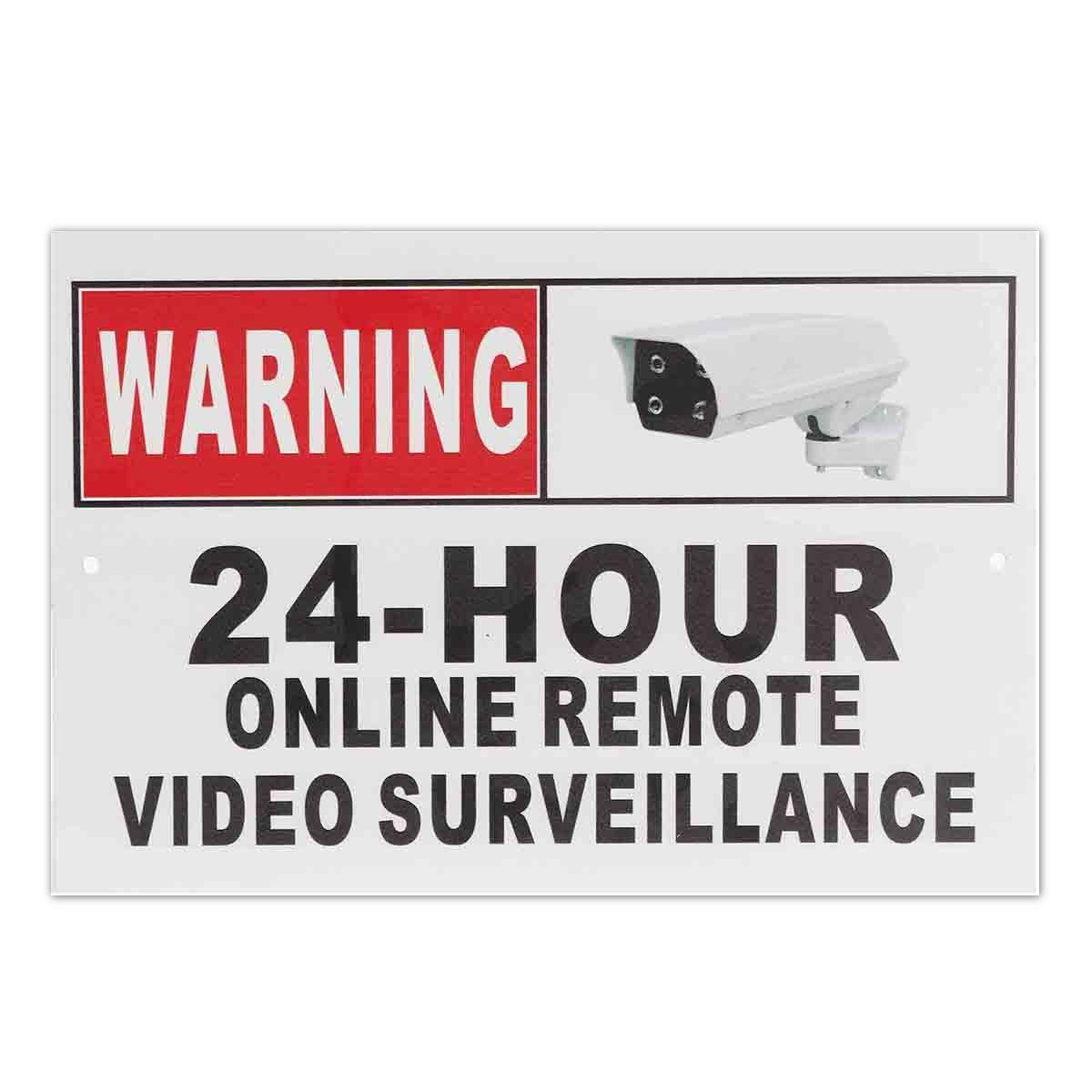24 Stunden Online Remote Videoüberwachung Sicherheit Cctv-kamera Metall Zeichen Aufkleber