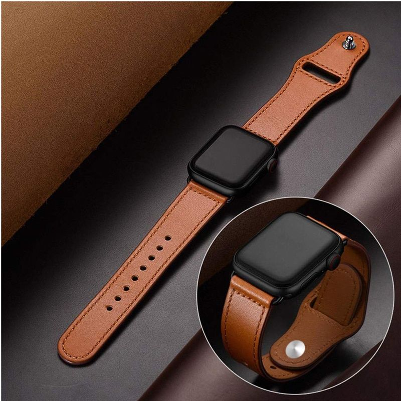 Bracelet en cuir véritable pour apple bracelet de montre 4 42mm 38mm correa bracelet de montre pour iwatch 44mm 40mm 3/2/1 accessoires de bracelet