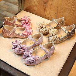Zapatos de la escuela para las niñas 2018 nuevo tamaño más para 1 ~ 9 t princesa Party Bowknot danza cuero nobuck solos zapatos Dropshipping