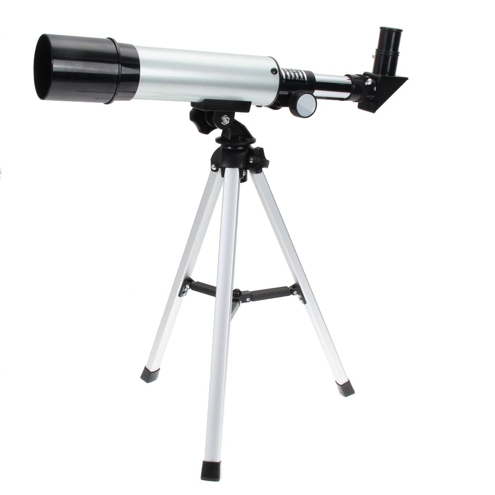 2017 Monocular Handhold Silver 360/50mm Refractive Outdoor Monocular Astronomical Telescope with Portable Tripod Spotting Scope