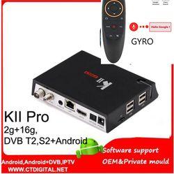 Kii Pro Android Box Satelit DVB-T2 DVB-S2 Android 7.1 Amlogic S905D 2G/16G 802.11AC Wifi Lan BT4.0 4 K Penerima Satelit
