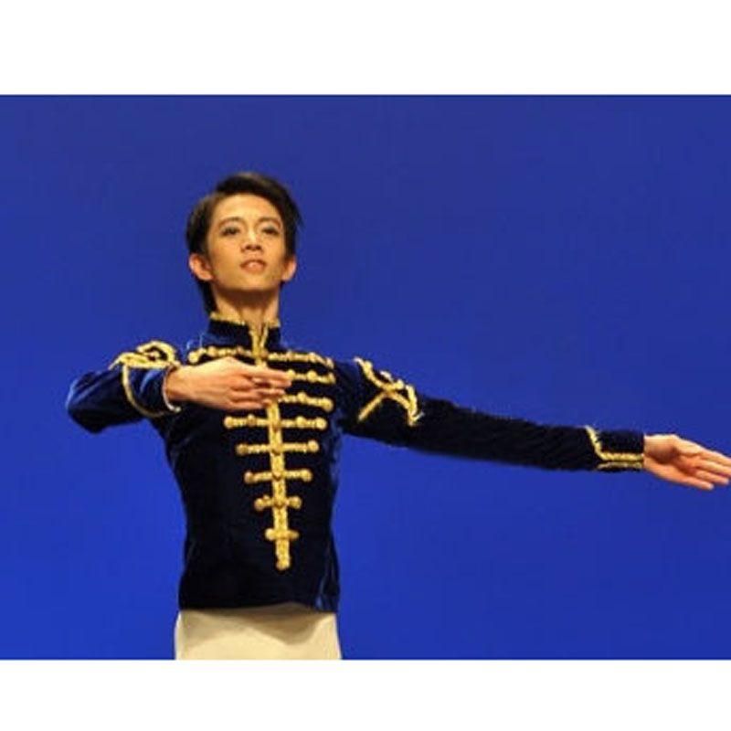 Free Shipping Custom Made Man Velvet Ballet Jacket /Prince Dance Costumes,Ballet Top For male Adult Boy Coat For Ballet