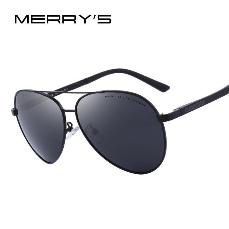 MERRY'S DESIGN Men Classic Pilot Polarized Sunglasses Aluminium Magnesium Legs UV400 Protection S'8158