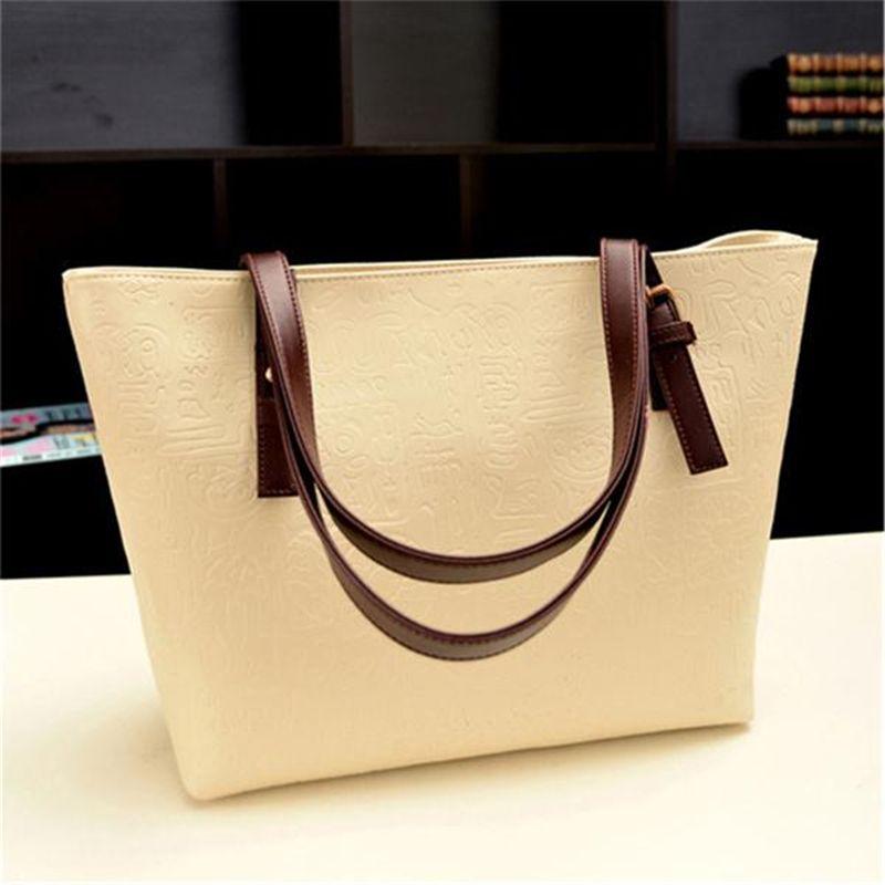 Новое поступление Дамские туфли из PU искусственной кожи сумка Для женщин Сумки на плечо удобный многофункциональный большая емкость сумка ...