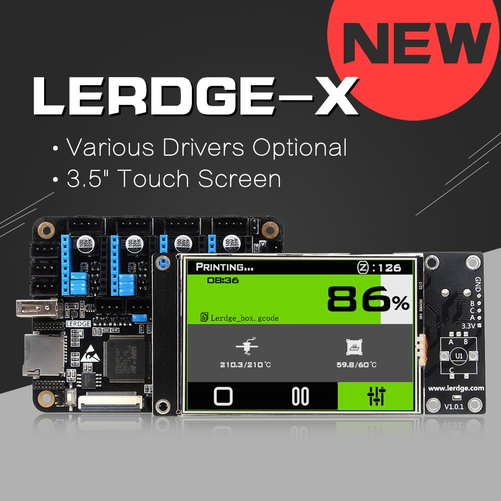 LERDGE-X 3D Printer Controller Board for Reprap 3d printer motherboard with ARM 32Bit Mainboard control with 3.5Touch <font><b>Screen</b></font>