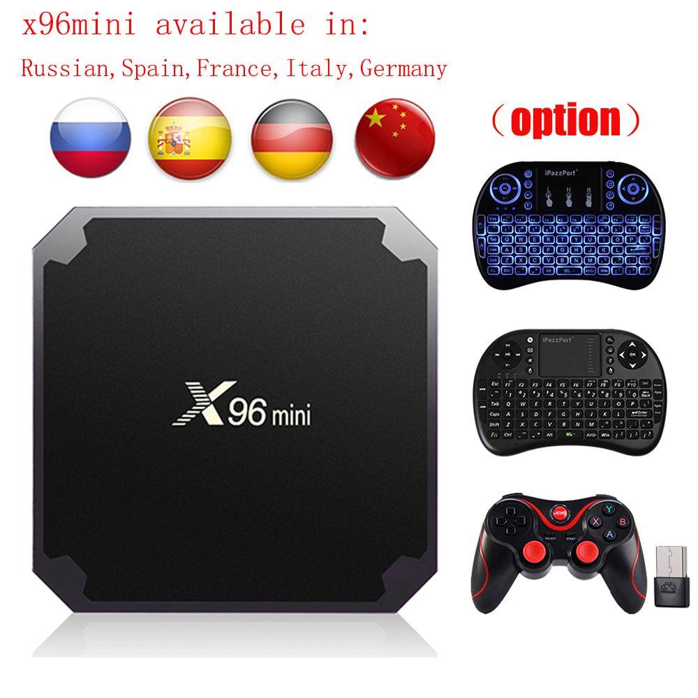 Android 7.1.2 X96 mini TV BOX 2GB 16GB 1GB 8GB TV Box Amlogic S905W Quad Core Support 4K 2.4GHz WiFi X96mini Smart TV Box pk X96