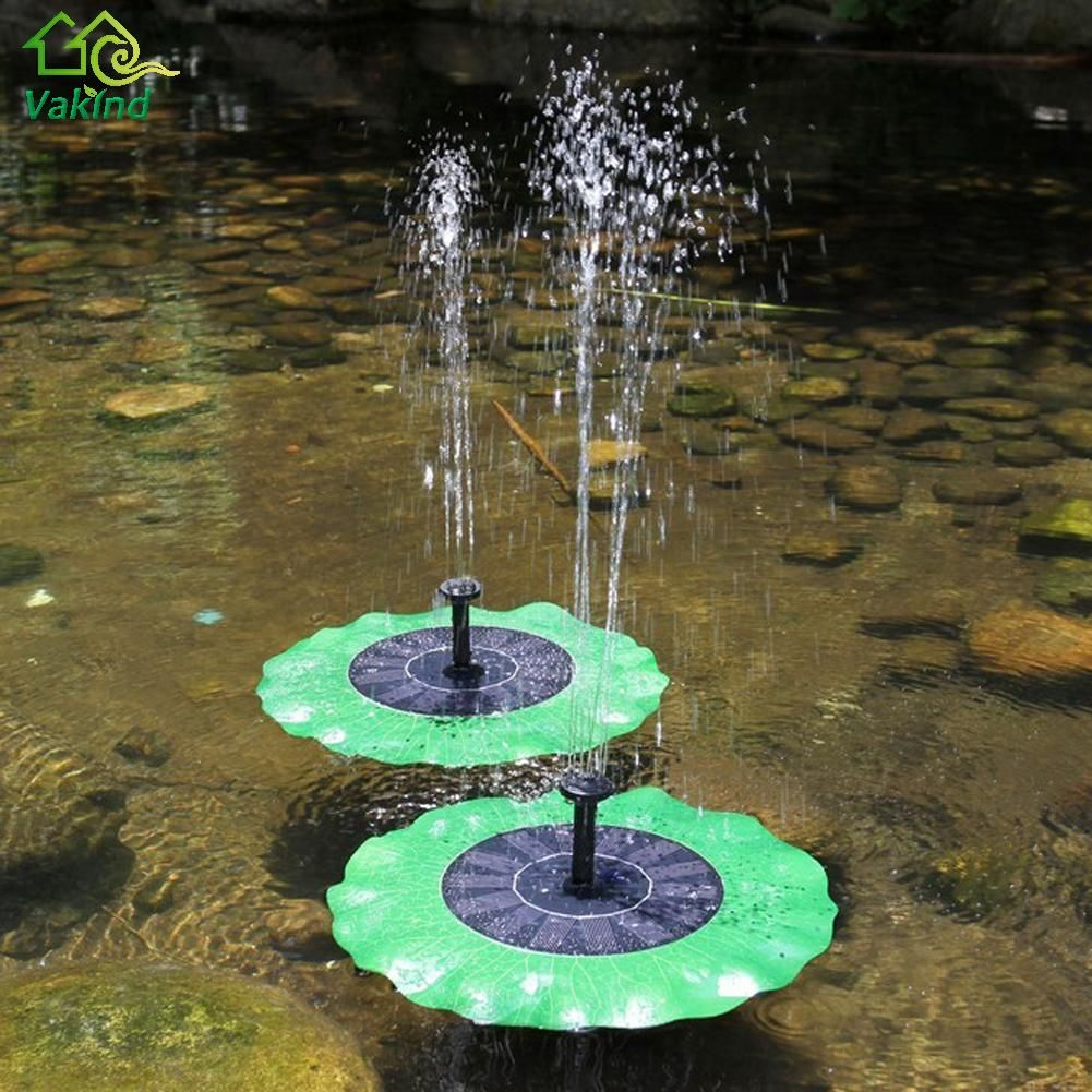 Solar Powered Water Pump Panel Kit Lotus Leaf Floating Pump Fountain Pool Garden Pond Watering Submersible Pumps