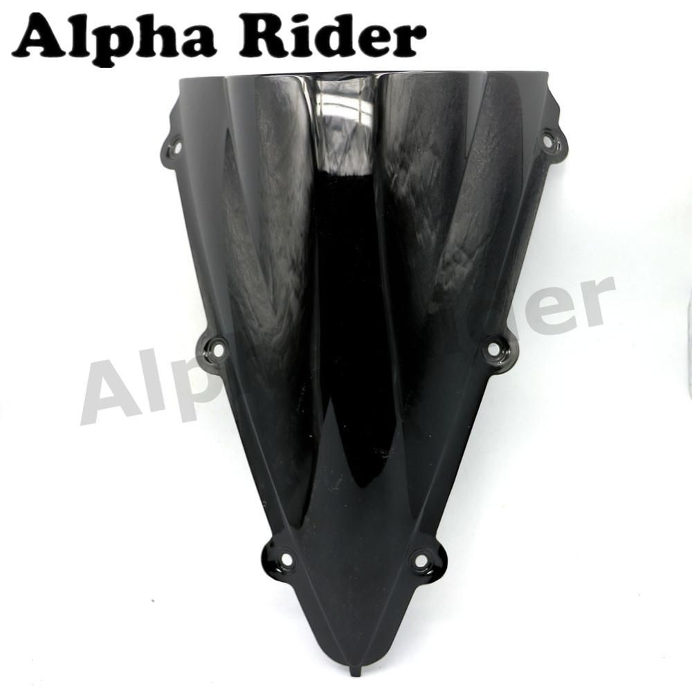 Motorcycle Double Bubble Windscreen Windshield for Yamaha YZF R1 04 05 06 YZF R1 2004 2005 2006 Black Windproof Glass Deflector
