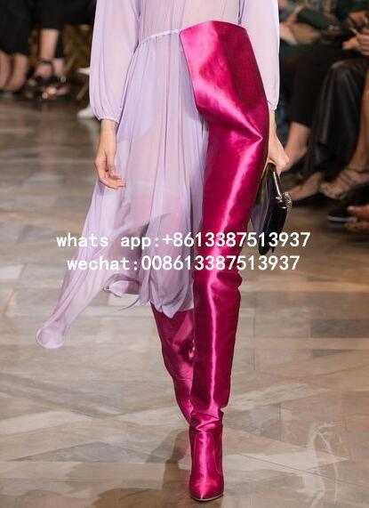 Chaussure Femme 2017 Neue Designer Extreme Lange Taille Boot Promi-frauen Mode Booties Nachtclub Stiletto Schritt Hohe Stiefel