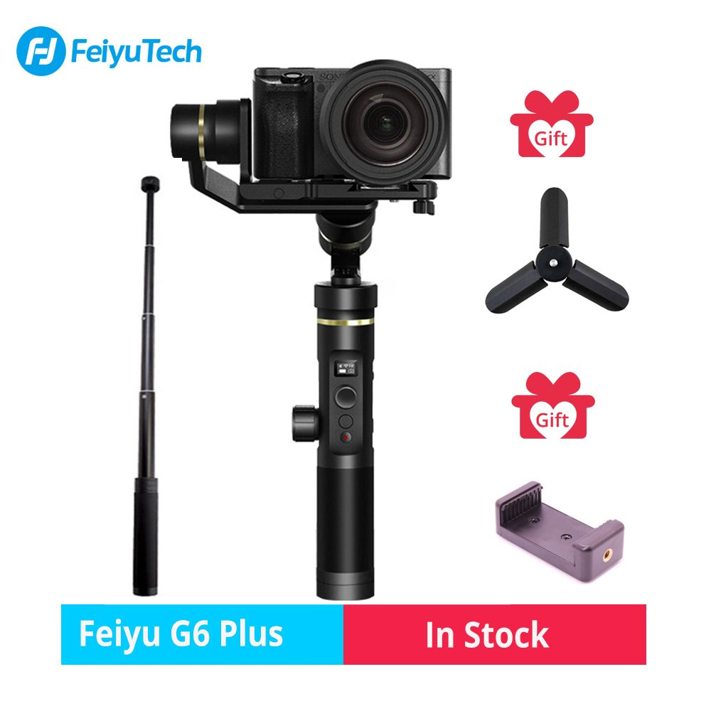 Feiyutech Feiyu G6 Plus SplashProof Handheld Gimbal Stabilizer for Smartphone Iphone Gopro hero action camera/Mirrorless camera