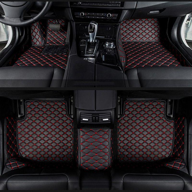 Auto fußmatten für Mitsubishi Pajero ASX Lancer SPORT EX Zinger FORTIS Outlander Grandis Galant auto styling Benutzerdefinierte fußmatten