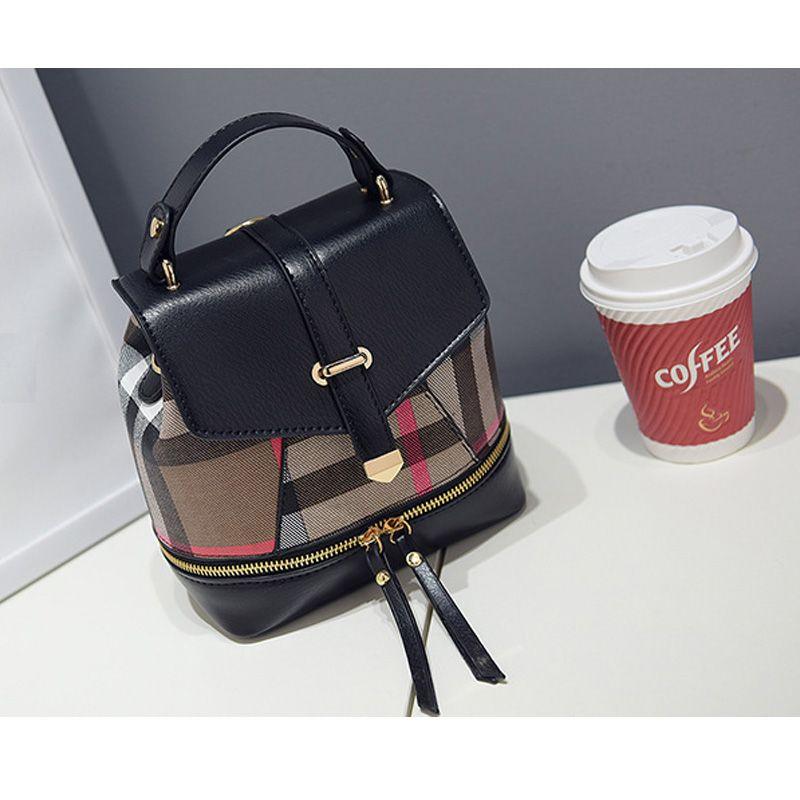 2017 new parquet shoulder  shoulder bag fashion small fresh bag Miss Han Banchao dual backpack