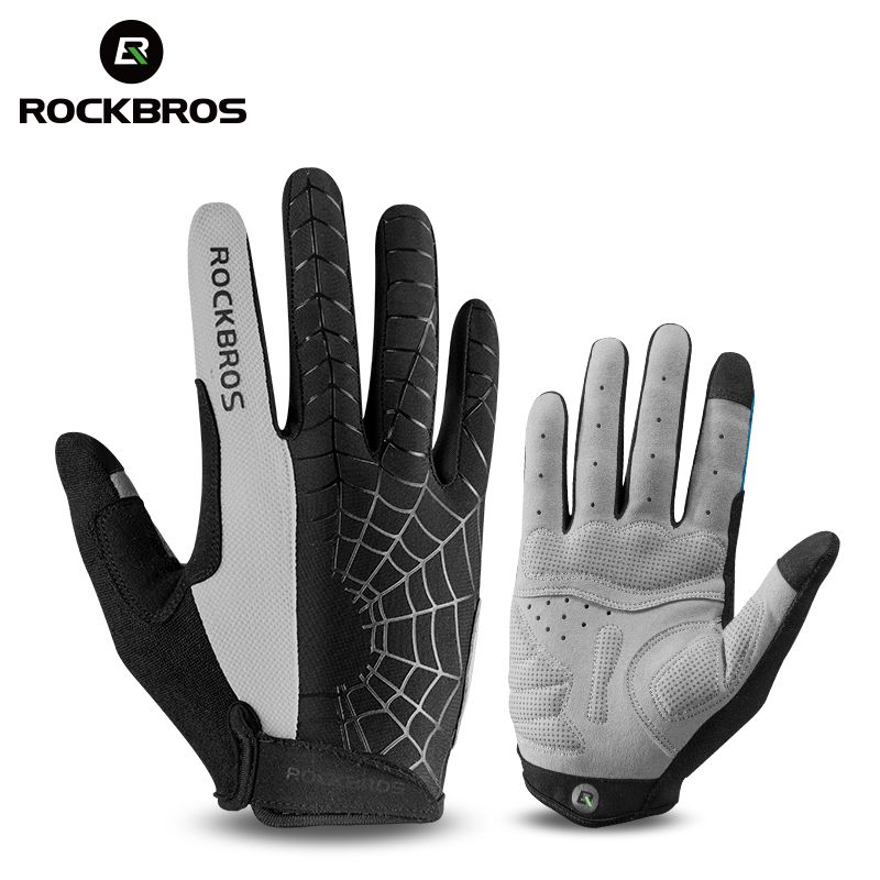 ROCKBROS Windproof Cycling Bicycle Gloves Touch <font><b>Screen</b></font> Riding MTB Bike Glove Thermal Warm Motorcycle Winter Autumn Bike Clothing