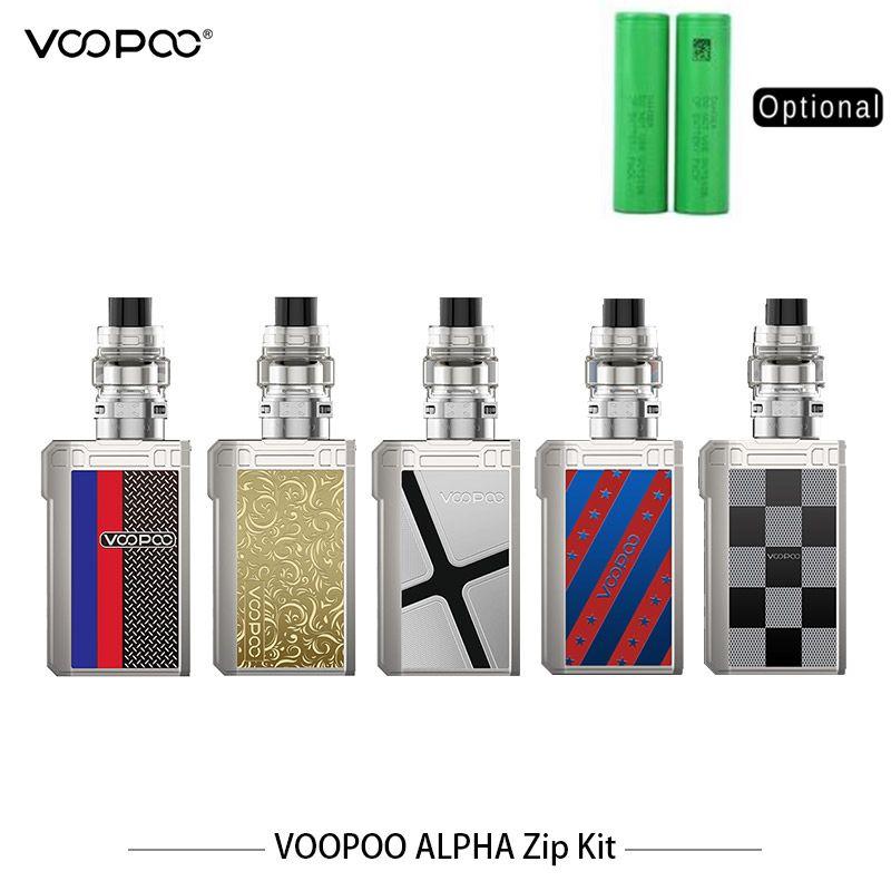 Original VOOPOO ALPHA Zip Kit 180W Zip Box MOD Vape 4ML Maat Tank Vape mit MT-M2 MT-M1 Mesh spule Elektronische Zigarette Vape