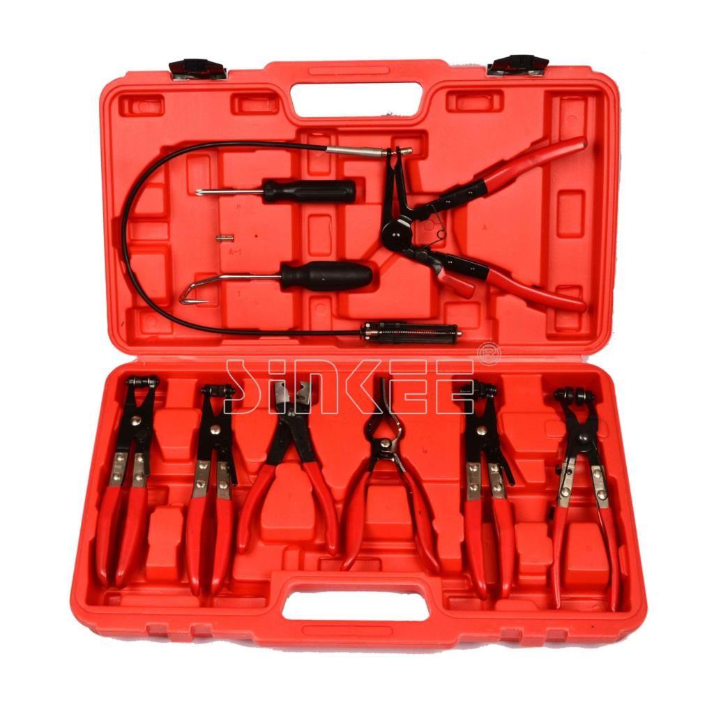 9 piece Flexible Hose Clamp Plier Assortment Kit Flexible Tool Set