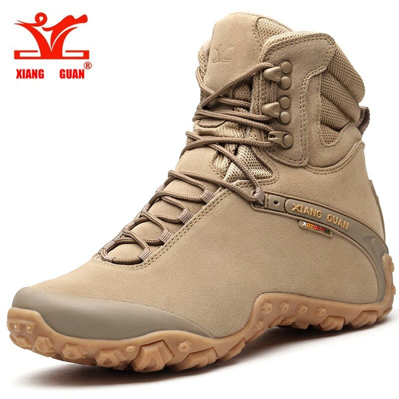 2018 Xiang crown men's hiking boots warm outdoor sports shoes men winter climbing ladies sports shoes comfortable high boots