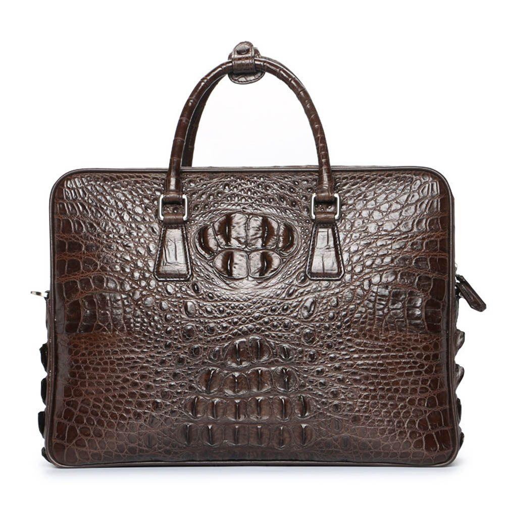 New Luxury Brand crocodile Leather Men Laptop Bag Briefcase Fashion Men's Business Bags Casual Leather Messenger Bag for Men