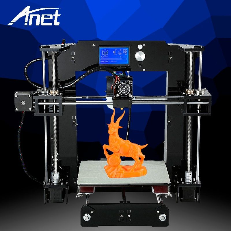 Anet A6 3D Printer Upgraded High precision DIY 3D Printer Prusa i3 RepRap Filament Kit 16GB SD card LCD screen Ship From Moscow