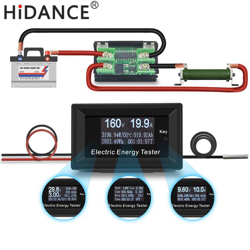 150V 20A 3KW DC digital voltmeter ammeter power supply <font><b>voltage</b></font> meters detector wattmeter volt current capacity tester indicator