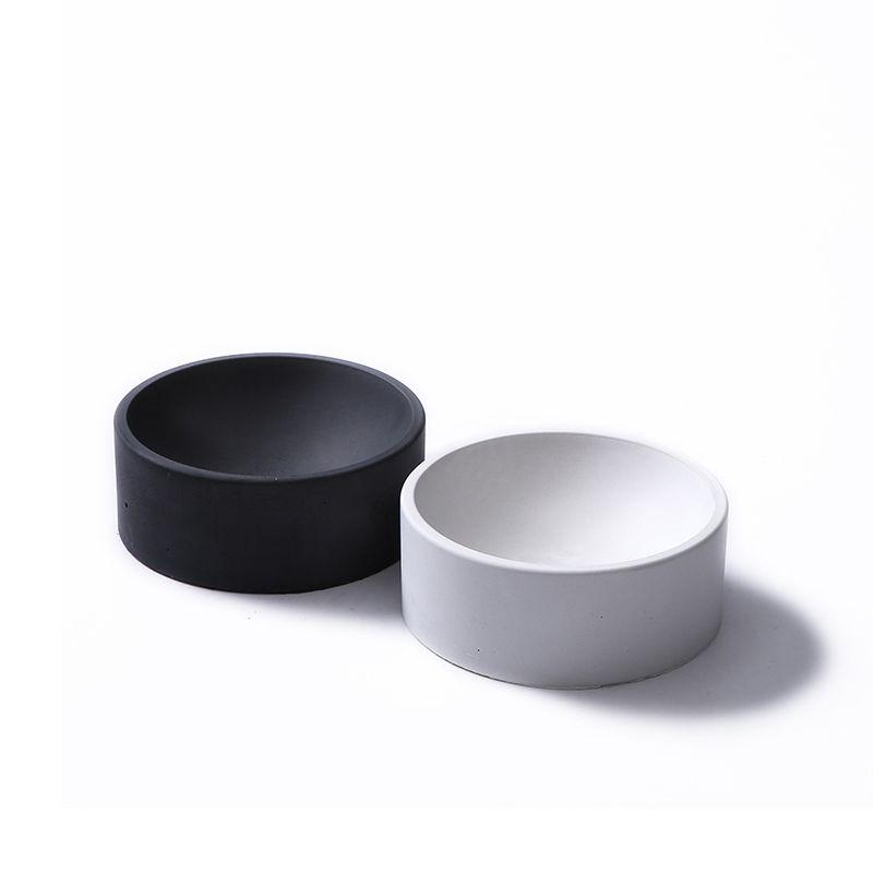 Silicone moule ciment multi-fleur pots stockage ameublement rond stockage fonctionnel conteneur moules (pas de trous d'eau)
