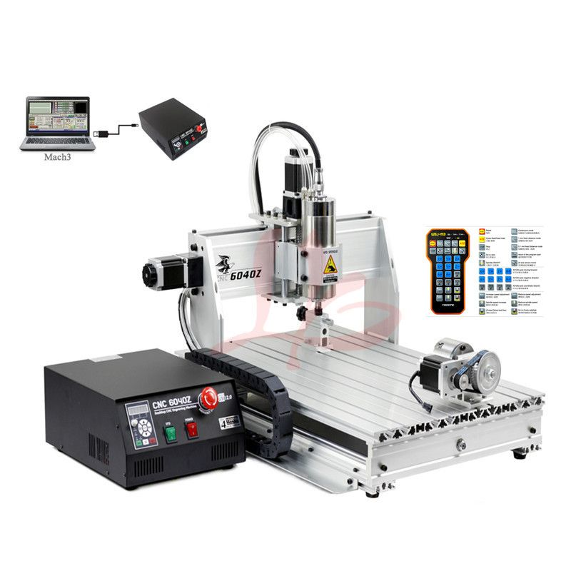 3d milling router 6040 2200W water cooled spindle metal engraving machine USB port DiY wood router