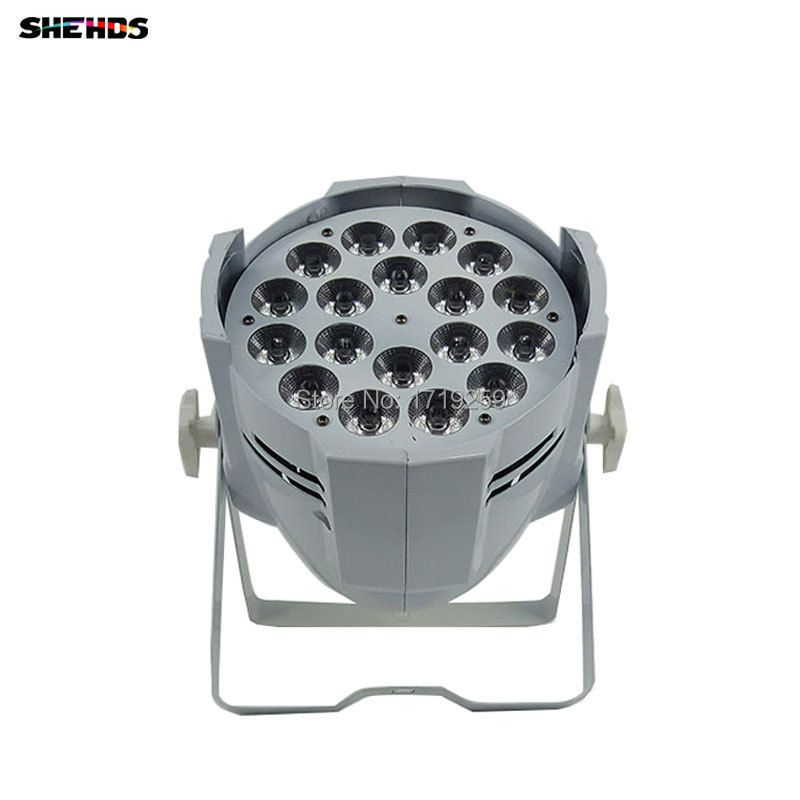 6pcs/lot 18x18W 6in1 RGBWA+UV LED Stage Light LED Par Can With DMX512 Flat DJ Equipments Controller Fast&Free Shipping