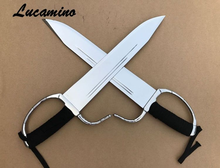 Wing Chun Swords Wing Chun Dao Bart Cham butterfly double knives ebony wooden/rope handle half sharpened combat bart cham dao