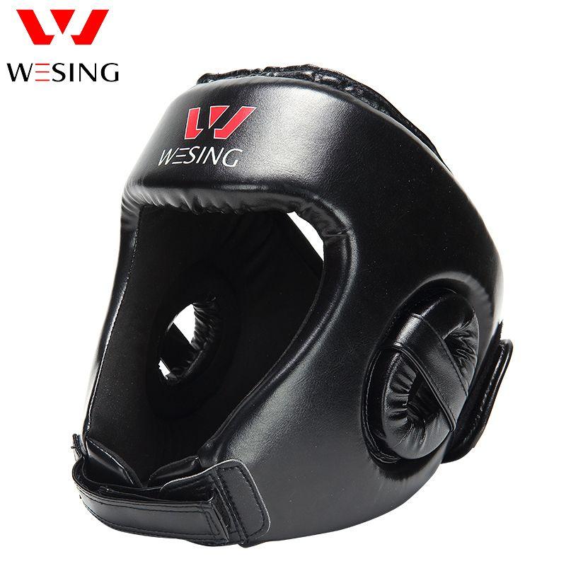 Protector de cabeza formación sanda boxeo Jefe de Guardia de boxeo Sombrerería Formación Casco Kick Boxing Protección Gear