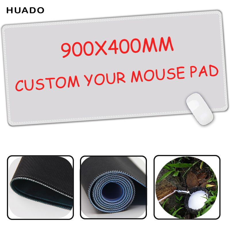 Custom Large Game Mouse Pad 900*400 mouse mat high quality DIY <font><b>picture</b></font> with edge locking