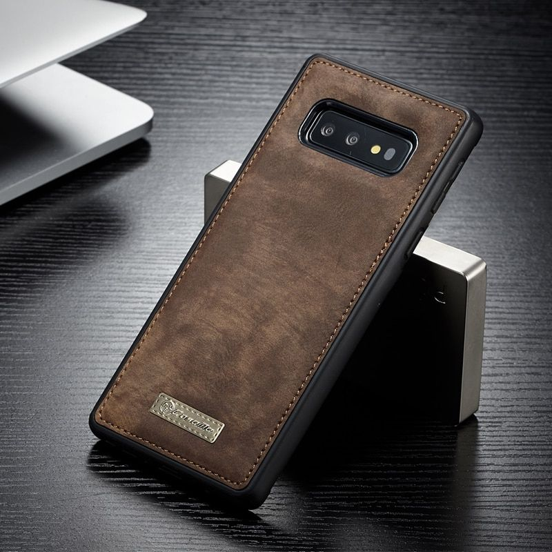 Original CaseMe Magnetic Vintage Leather + Soft TPU Silicone Back Cover Case For Samsung Galaxy S10 Plus S10e Phone Cases S10