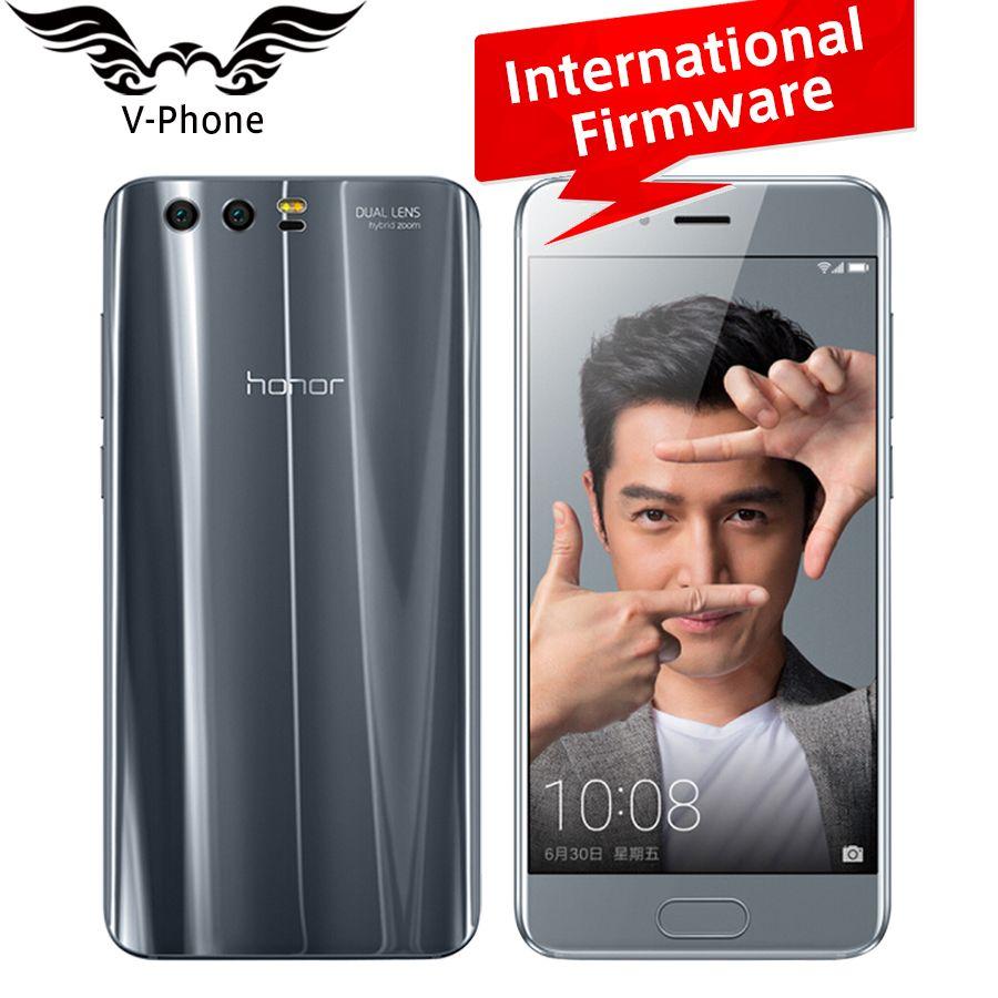 Оригинальный Huawei Honor 9 мобильный телефон 4 г LTE 5.15 'KIRIN 960 Octa Core 6 ГБ Оперативная память 64 ГБ встроенная память двойной сзади 1920*1080 P отпечатков па...