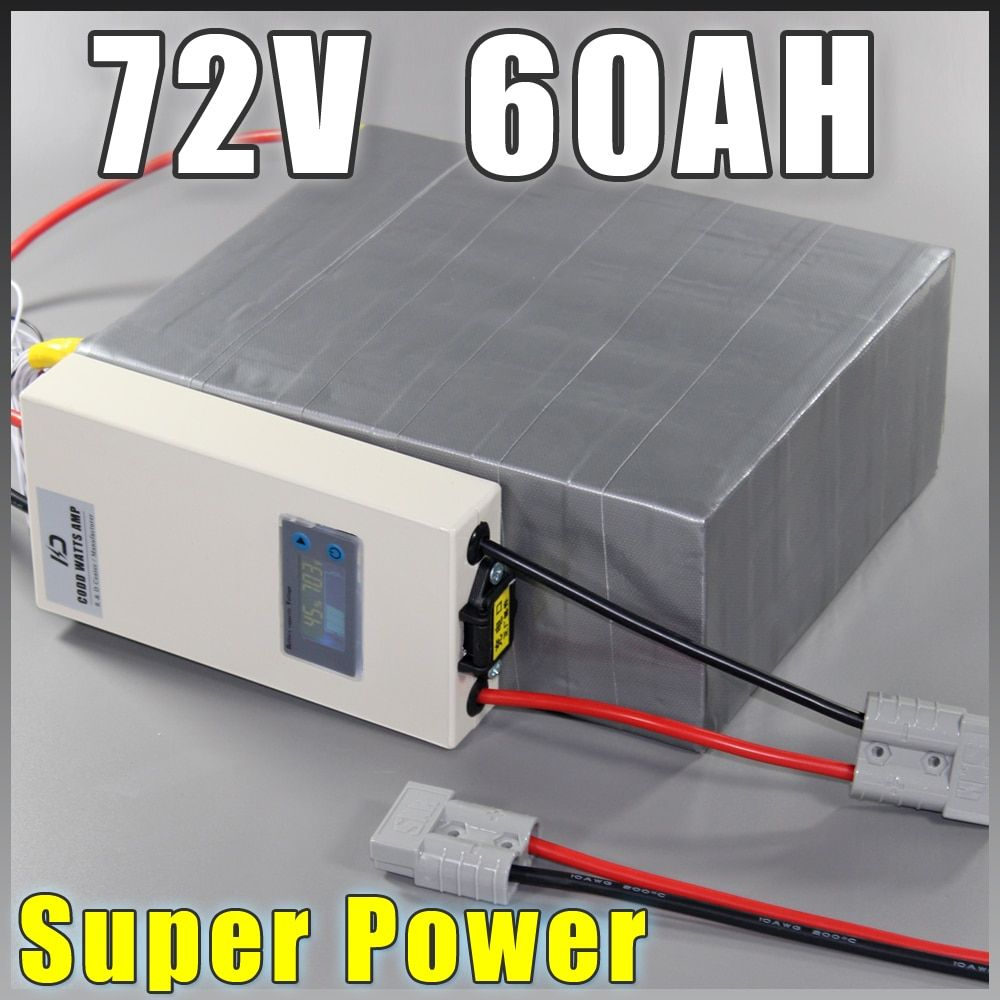 72V 60Ah LiFePO4 Battery Pack ,4000W Electric Bicycle Battery + BMS Charger 72v lithium scooter electric bike battery pack