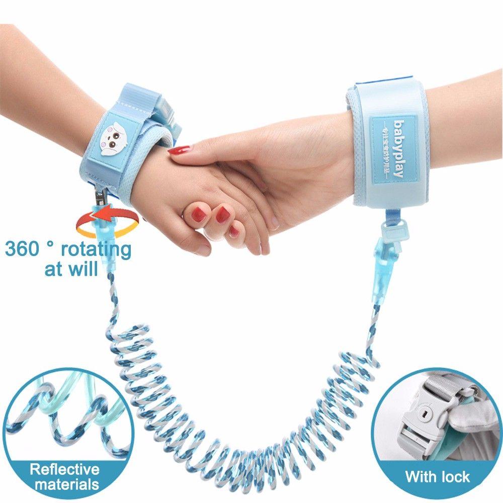 Mise à niveau lumineuse Anti perte Anti-perte corde harnais de sécurité bébé sangle en plein air marche main ceinture confortable Anti perte poignet ceinture