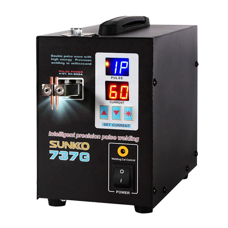 SUNKKO 737G Batterie Spot Schweißer 1.5KW Digital Display Spot Schweißen Maschine Für 18650 Batterie Pack Schweiß Doppel Puls Spot schweißer