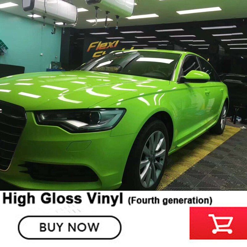 Crystal glossy apple green Vinyl wrap buds green Car Stickers For All Car Models Fourth generation Imported glue