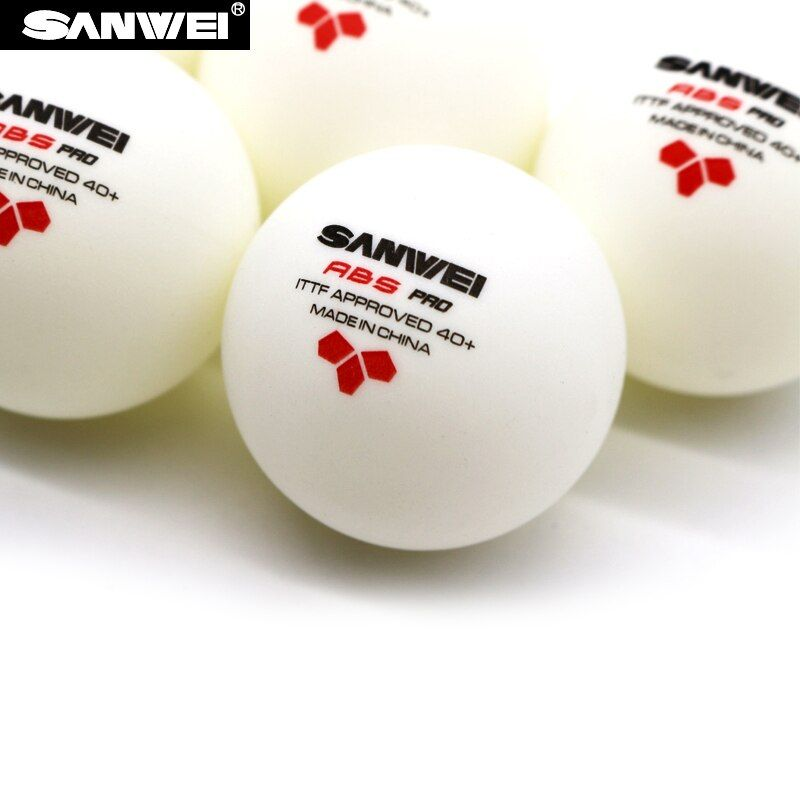 Wholesales link - 60 Balls SANWEI 3-Star ABS 40+ PRO Table Tennis Ball ITTF Approved New Material Plastic Poly Ping Pong Balls