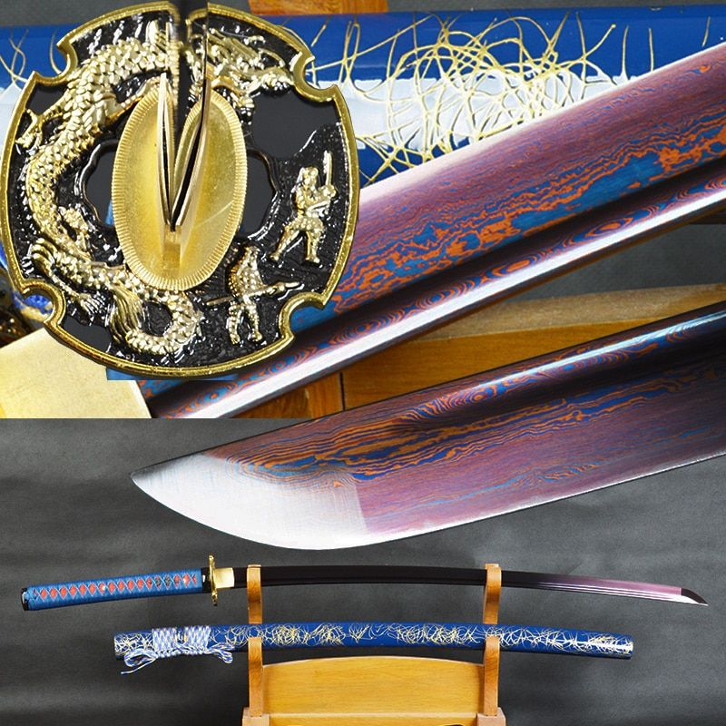 Brandon Schwerter 41 Handmade Japanischen Samurai Katana Sharp Gefaltet Stahl Kampf Schwert Full Tang Schneiden Praxis Espada Katana