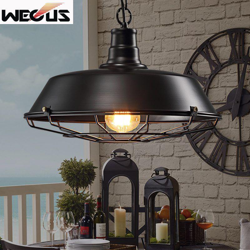360mm Vintage Loft pendentif lampe entrepôt droplight salle à manger bar couloir pub étude café lampe lumière cage suspendus lustre