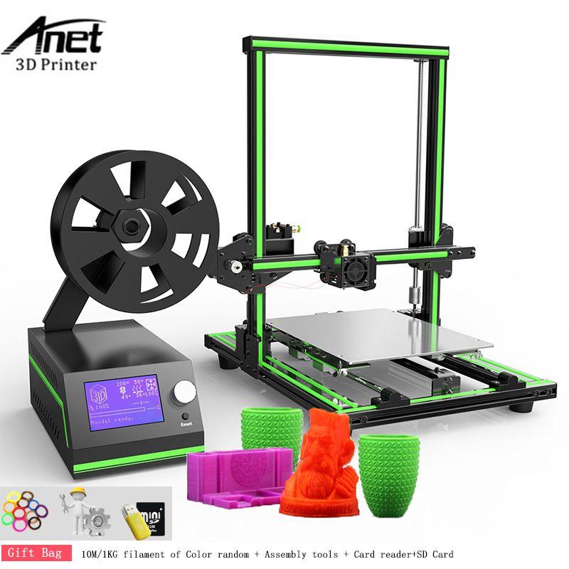 Anet E10 3D printer DIY Kit Large Size Reprap i3 Mini Printer 300 x 300 x 400MM 0.4MM Nozzle Aluminium Frame Easy Assembly