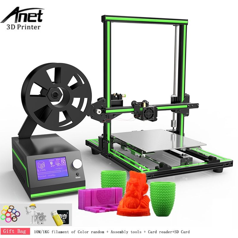 Anet E10 3D printer DIY Kit Large Size Reprap i3 Mini Printer 300 x 300 x 400MM 0.4MM Nozzle Aluminium Frame Easy Assembly