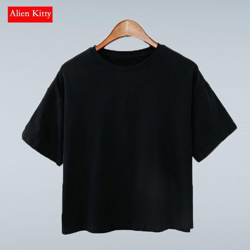 Alien Kitty 11 couleurs 2019 été Style femmes T-shirt haut pour femme couleur bonbon lâche mode solide couleur T-shirt femme t-shirts