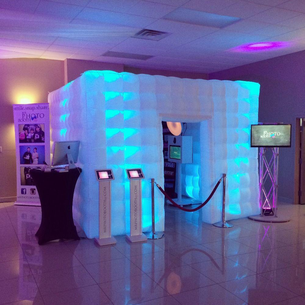 Freies verschiffen Led-licht aufblasbare photo booth beste qualität fotoautomaten rahmen